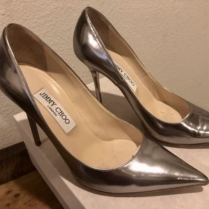 Jimmy Choo Mirror Leather Heeled Pumps 38.5, shoes